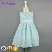 beautiful rose flower fancy dress girl net dresses costume for wedding 2016