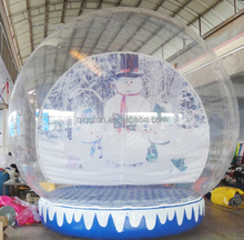 Outdoor promotion human size chritmas snow globe, inflatable snow globes, outdoor snow globe inflatable decorations for party