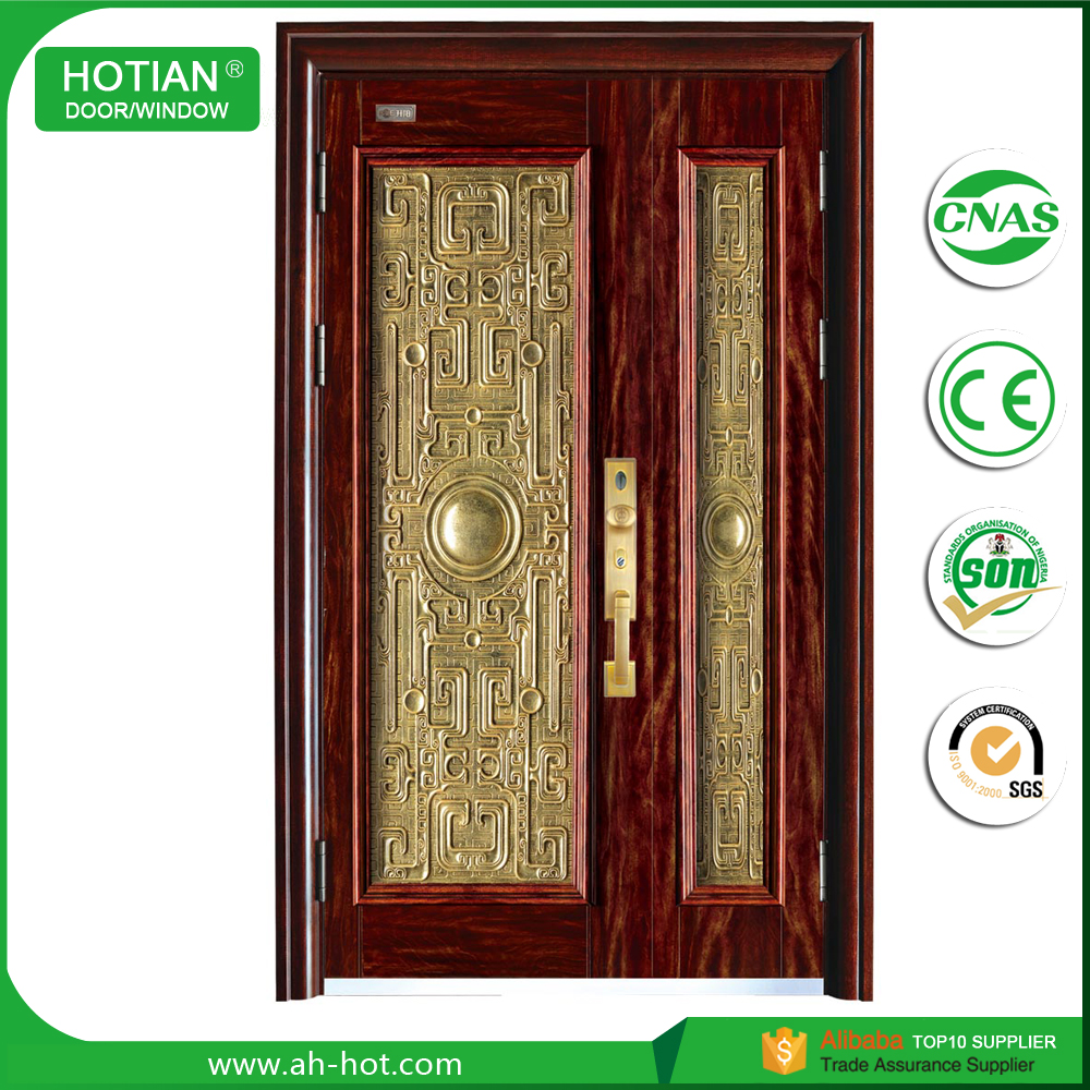 Luxry design single and half door decorative screen door grill 1 hour fire rated door