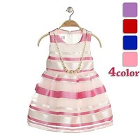 light pink flower girl dress with necklace beautiful suits frock for girls simple design dress for girls