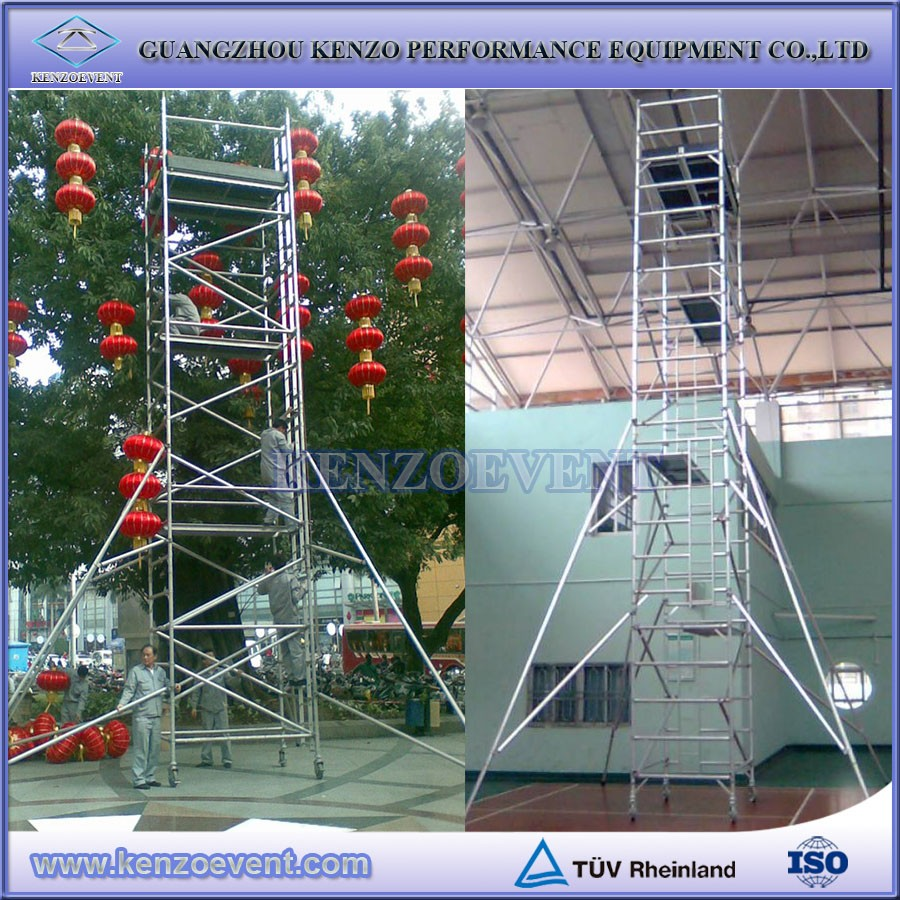Types Of Portable Scaffolding : Ladder scaffolding aluminum portable buy