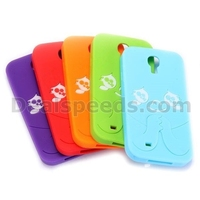 Cute 3D Cartoon Kid Face Silicon Protective Case For Samsung i9500 Galaxy S4 i9505 i9508