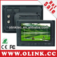 5 inch small lcd monitor hdmi with LP-E6 Battery plate