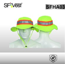 High visibility industrial safety equipment safety cap with reflective tape