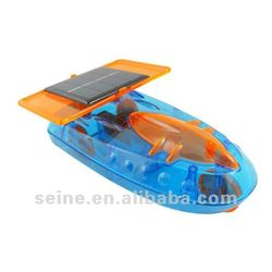 Solar energy powered foshing boat, solar educational toys