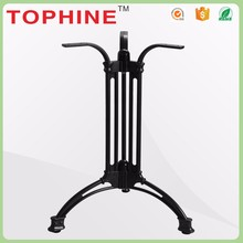 China manufacturer black cast iron metal furniture square table leg