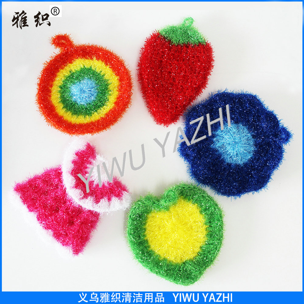 lovely hand crochet dish scrubber set