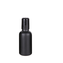 30ml 1oz empty refillable black coating essential oil perfume roll on glass bottle with plastic cap