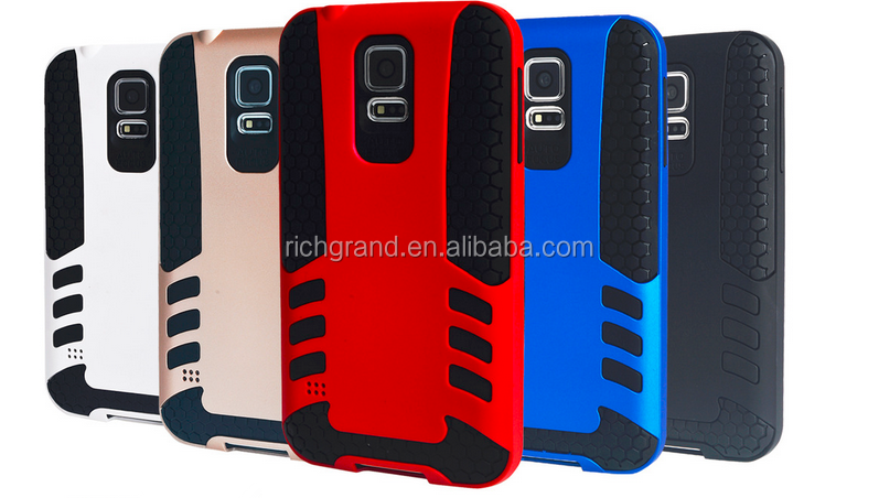 New Hybrid Shockproof Rugged Rubber Hard Armor Cover for Samsung Galaxy S5 Case i9600