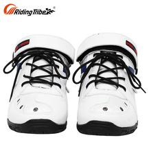 Red Lightweight Low Top Cut Bike Motorcycle Boots For Short Men Shoes