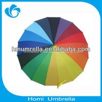 2015 Durable Rainbow Cheap Umbrella Cost, Made in CN