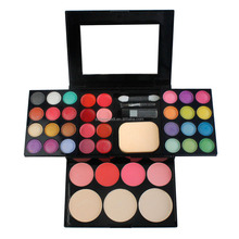 facial cosmetic blusher fashion natural 32 color eye shadow with blush palette
