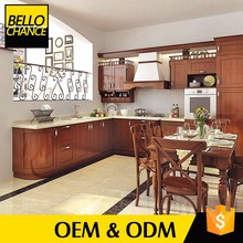 2017 Solid Wood Units Cabinets Italian Style Kitchen Furniture Set