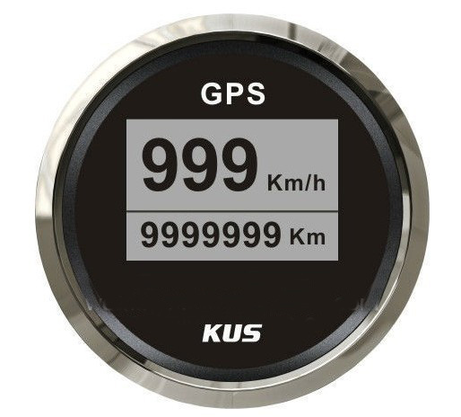 52mm digital GPS speedometer with mating antenna for marine, car, truck