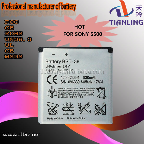 Original Capacity 900mah Mobile Phone Battery For Sony Ericsson Bst-38
