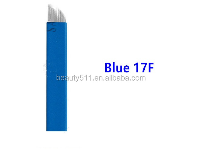 Wholesale High quality Disposable Professional Manua eyebrow Tattoo microblading needle Tattoo tools B20-17F