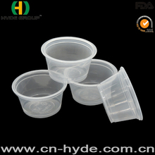Disposable pp portion cup with pet lid