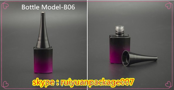 custom made electroplated uv gel 13ml empty glass nail polish bottles
