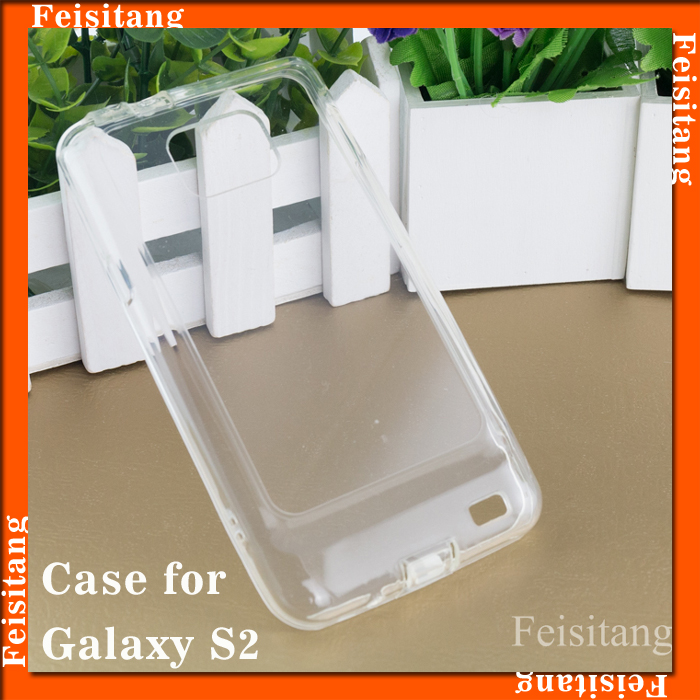 For Samsung Galaxy S2 i9100 PC Transparent with TPU mobile phone case cover