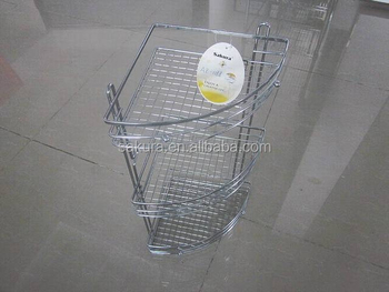3 tier basket storage steel bathroom rack