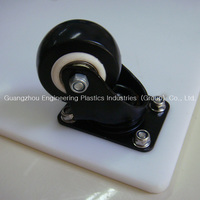 Custom various color small plastic pu roller pulley PU trolley wheel