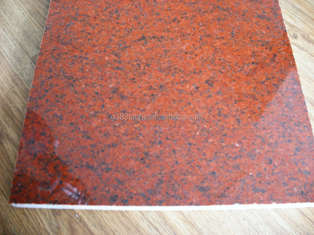 China cheap red dyed granite slabs tiles, antique red granite