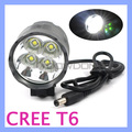 EU/US/UK Charger 4800Lm CREE XM-L XML T6 4 LED Light Bike