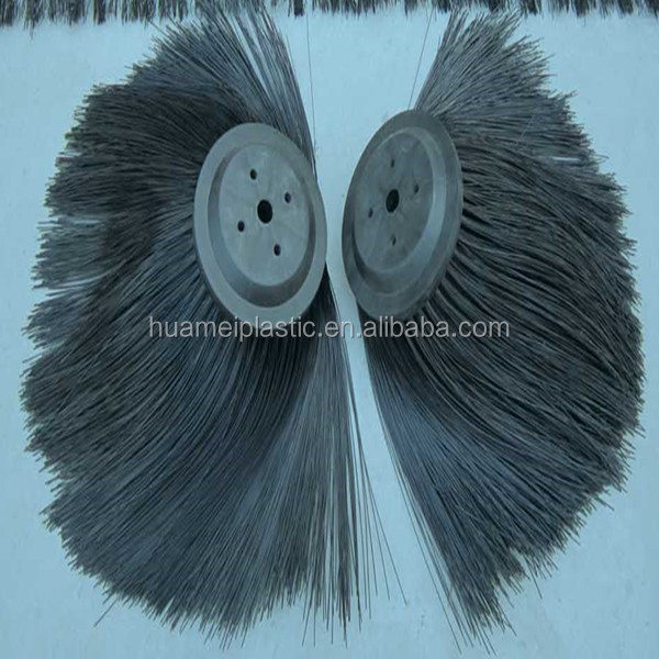 customized road sweeping cleaning wafer brush