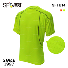 Breathable Spandex Quick Dry Hi Vis Short Sleeve T-shirt Reflective Thread Insert Sportswear Fitness T-shirt