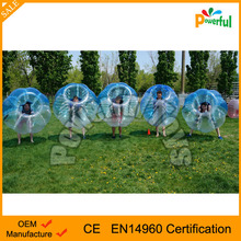 Crazy bumper ball, Cheap price human sized soccer bubble ball, interesting sports loopy ball