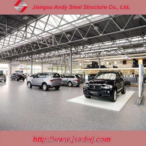 China car showroom structure warehouse for sale