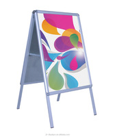 Open Snap Front Loading Professional Poster Stand Double side A frame
