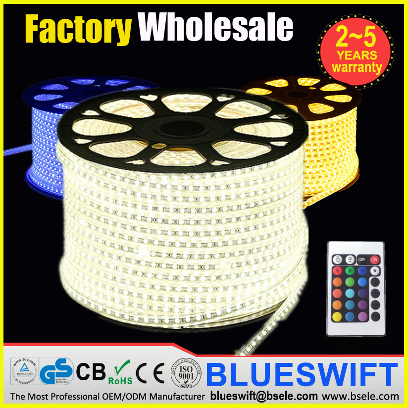 High Quality IP68 SMD 5050 Epistar Chip RGB 220v LED Strip Light
