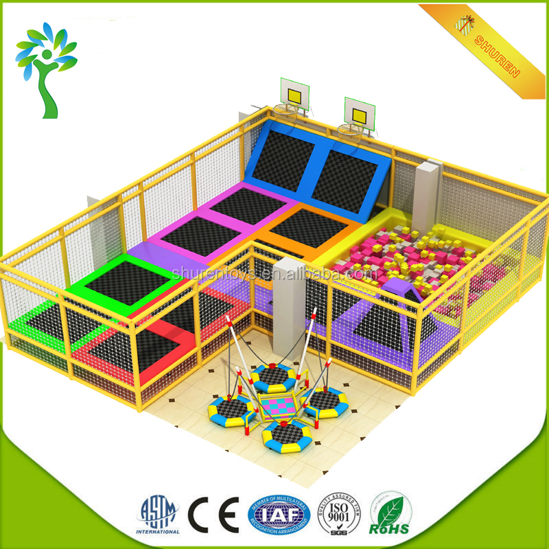 Cheap Imported Commercial Indoor Bungee Trampoline Park Kids Playground for Sale