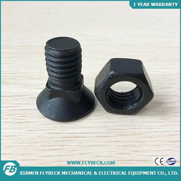 Good Quality Excavator Spare Parts Standard Size Machine Track Shoe Bolt And Nut China Bolt And Nut