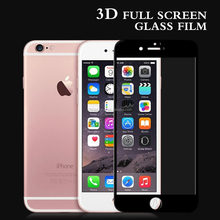 3D Tempered Glass for Mobile Phone,for Iphone 6 Color Full Cover Tempered Glass Screen Protector