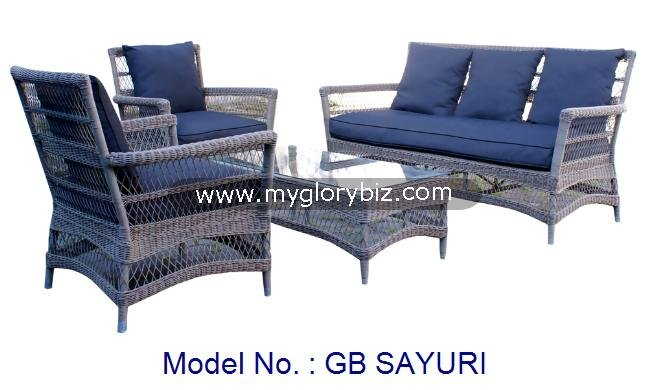 Rattan Sofa Set, Outdoor Furniture Set, Rattan Outdoor