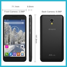 4G lte china smartphone 5'' MTK6582M quad core ZOPO ZP320 android4.4 mobile phone