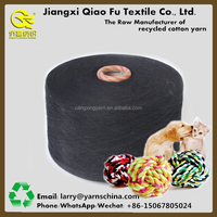 High Quality Recycled Open End Carded Cotton Yarn for Knitting and Weaving as Pet Toys