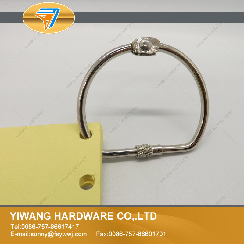 New product made in China small metal screw binder clip/ring wholesale