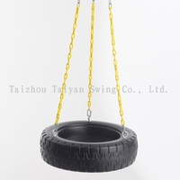 Garden Tire Swing for Kids