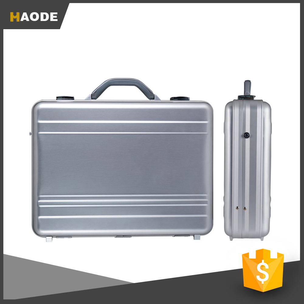 Wholesale Sliver Aluminum Fireproof Integrated Forming Briefcase