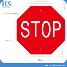 STOP pattern Safety PVC Reflective traffic Sign