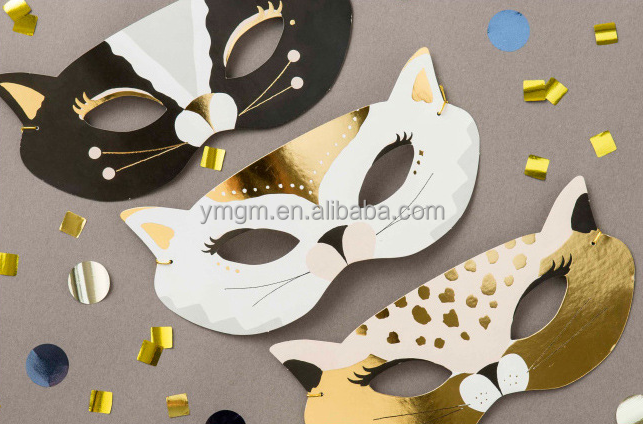 Hard paper plane party mask cat mask animal mask for kids playing