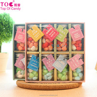 wholesale Creative snack foods wedding candy bottle with gift box