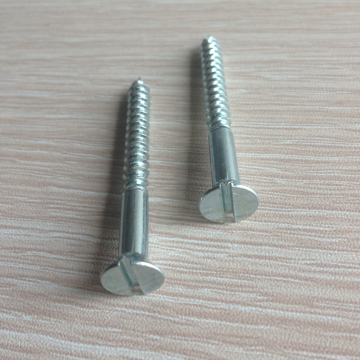 size m6 flat head wood screw galvanized