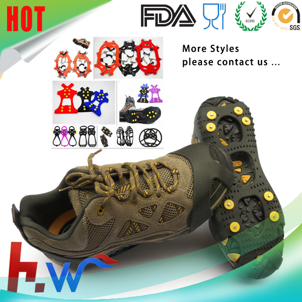Non-slip rubber plastic Ice Grip running Shoe Covers