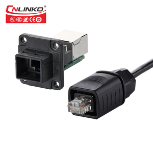 RJ45 Female to Male Cat Network Cable EX Connector, RJ45 IP67 Female Waterproof RJ45 Insulated Plastic Electrical Connector