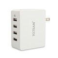 4 port folding foot USB wall charger travel charger with intelligent charging technology