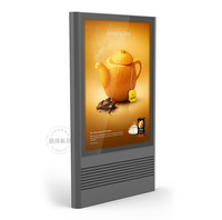 Chinese supplier Popular-side Outdoor Street Standing Advertising Aluminium LED Scrolling Light box